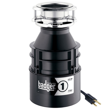 InSinkerator Badger 1 Garbage Disposal With Cord