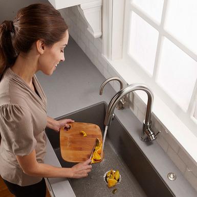Model: 78322 | InSinkerator SinkTop Switch in Satin Nickel - Single Outlet