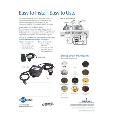 Model: 76696 | InSinkerator SinkTop Switch - Dual Outlet