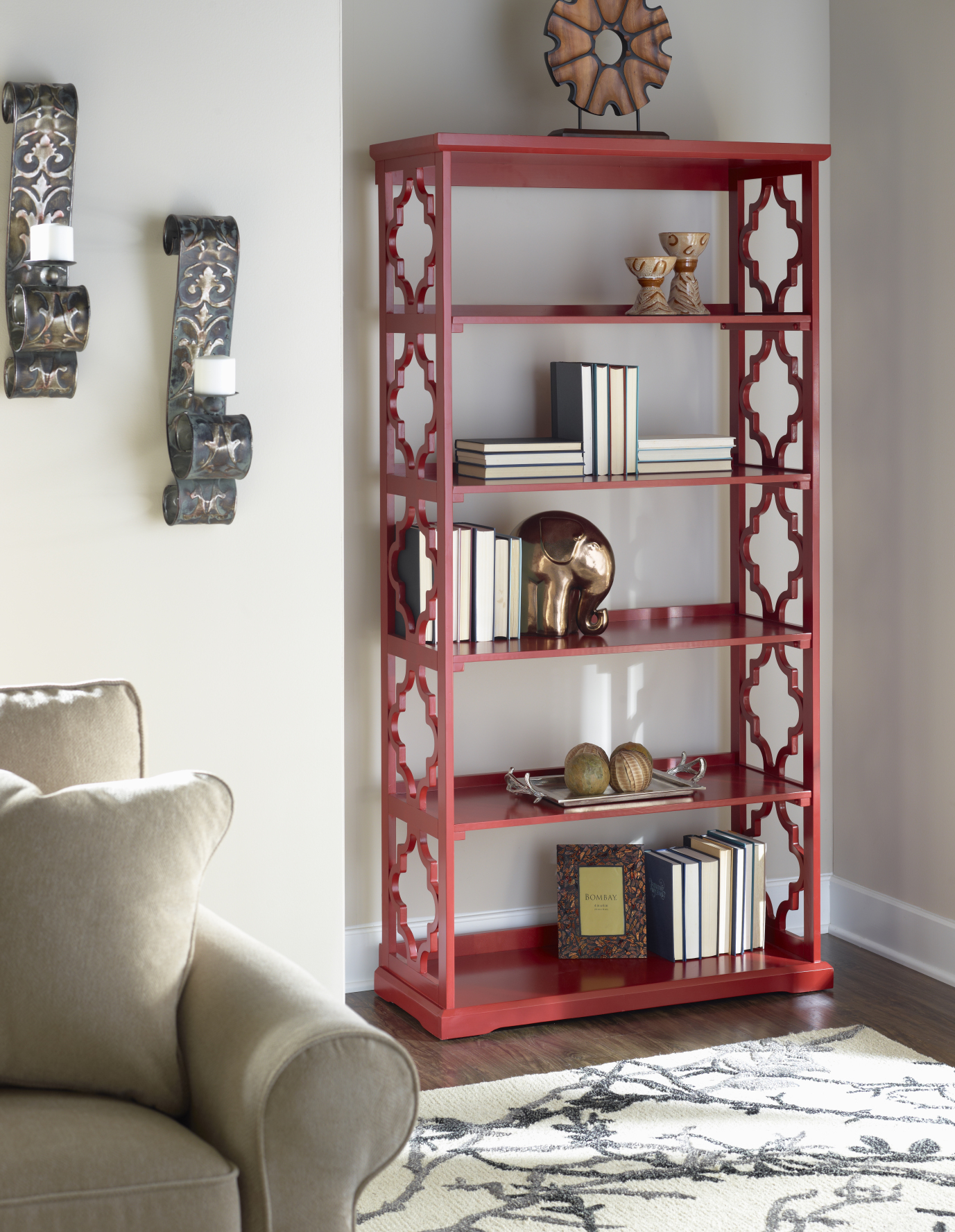 Powell Furniture Turner Bookcase Red