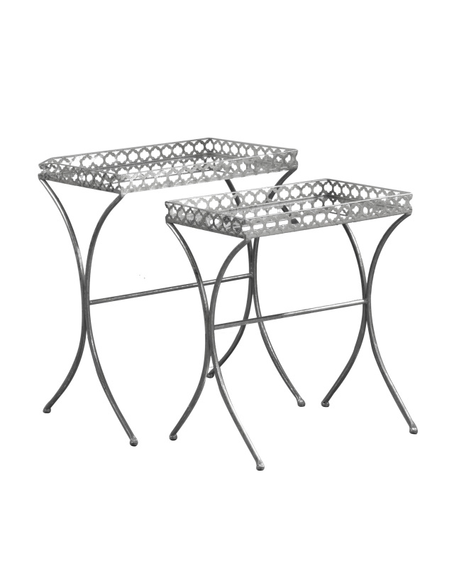 Apollo Silver Nesting Tables