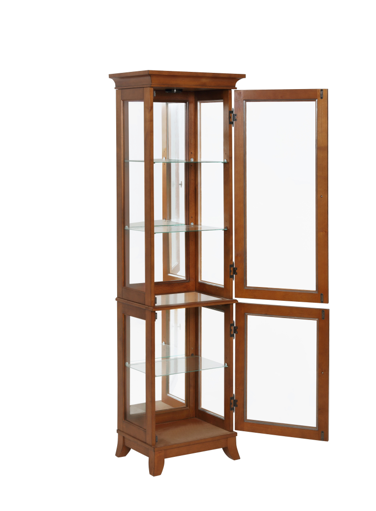 Powell Furniture Oakdale Small Curio-ships in 2 cartons