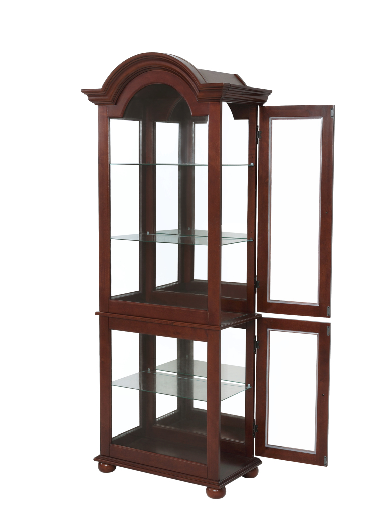 Powell Furniture Chadwick Large Curio-ships in 2 cartons