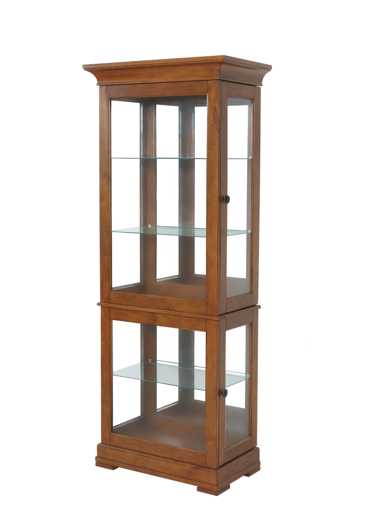 Powell Furniture Oakdale Large Curio-ships in 2 cartons