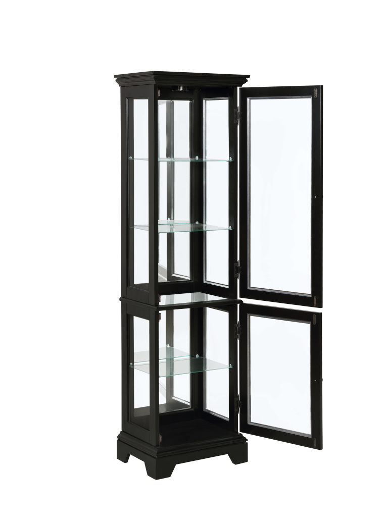 Powell Furniture Blackledge Small Curio-ships in 2 cartons