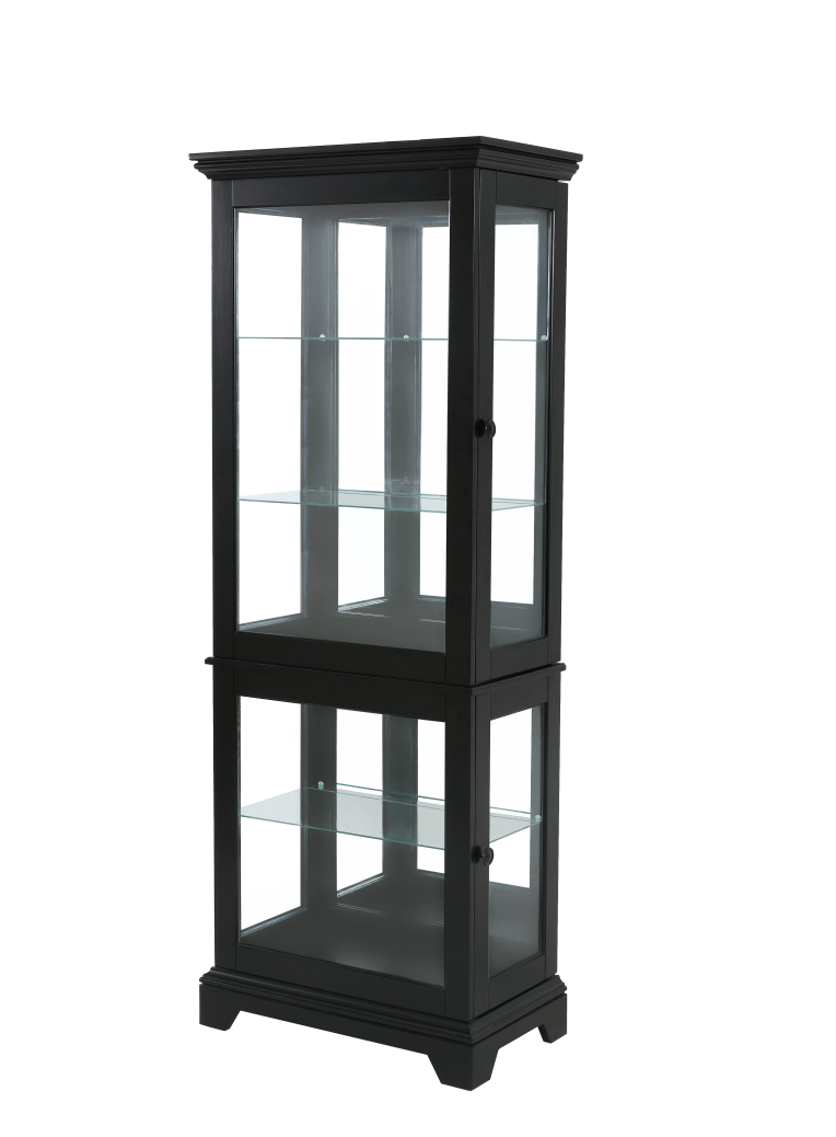 Powell Furniture Blackledge Large Curio-ships in 2 cartons