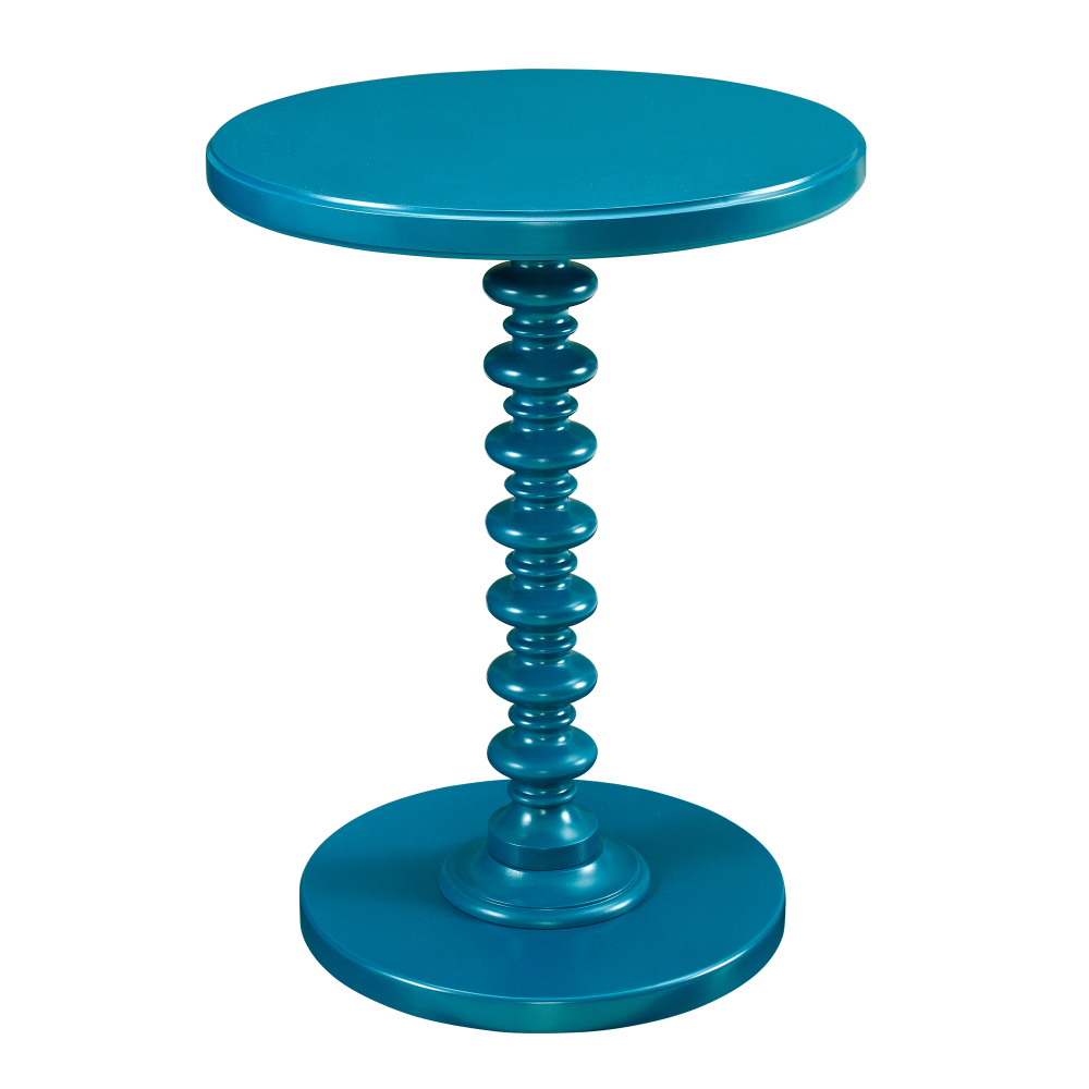 Teal Round Spindle Table