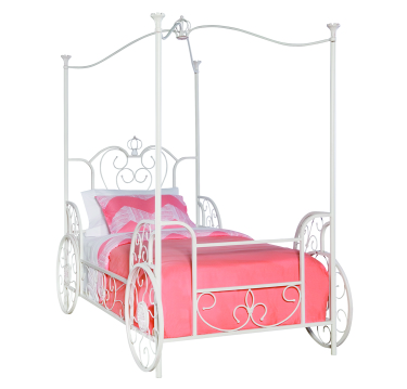 Model 374-042 | Princess Emily Carriage Canopy Twin Size Bed (includes Bed  sc 1 st  RW McDonald u0026 Sons & Powell Furniture - 374-042 - Princess Emily Carriage Canopy Twin ...