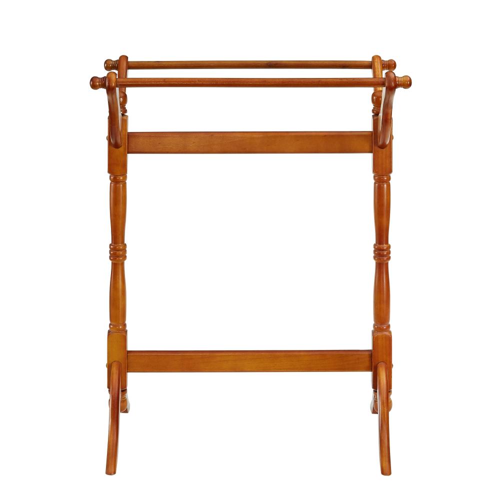Powell Furniture Oak Blanket/Quilt Rack