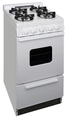 20 Inch Cordless Sealed Burner Gas Range