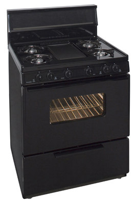 30 Inch Three-Way Top Cordless Gas Range