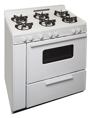 36 Inch Sealed Burner Electronic SparkGas Range