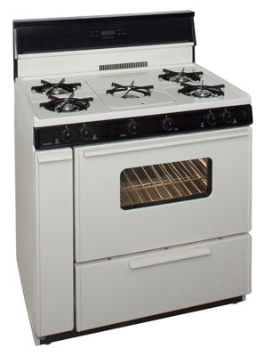 Premier 36 Inch Three-Way Top Electronic Spark Gas Range