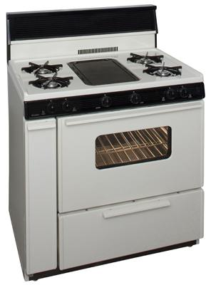 36 Inch Three-Way Top Cordless Gas Range