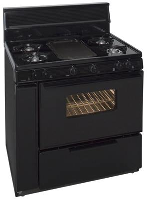 Premier 36 Inch Three-Way Top Cordless Gas Range