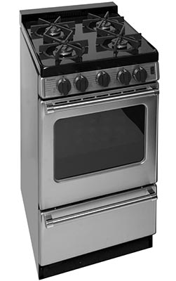 20 Inch Sealed Burner Electronic Spark Gas Range