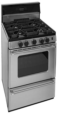 24 Inch Sealed Burner Electronic Spark Gas Range