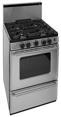 24 Inch Cordless Sealed Burner Gas Range