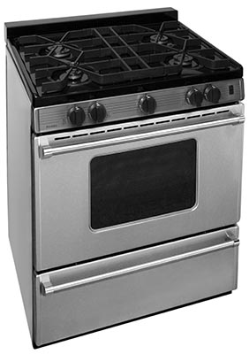 30 Inch Cordless Sealed Burner Gas Range