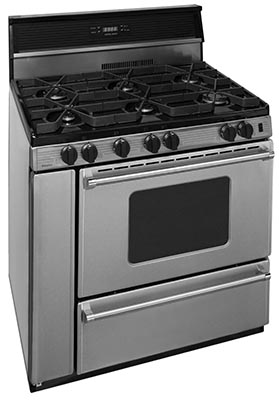 36 Inch Sealed Burner Electronic Spark Gas Range