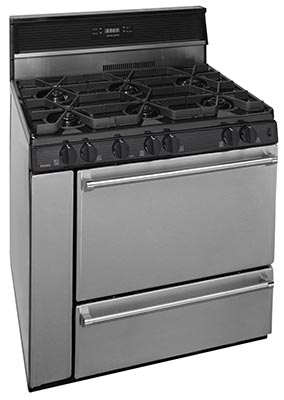 36 Inch Open Burner Electronic Spark Gas Range