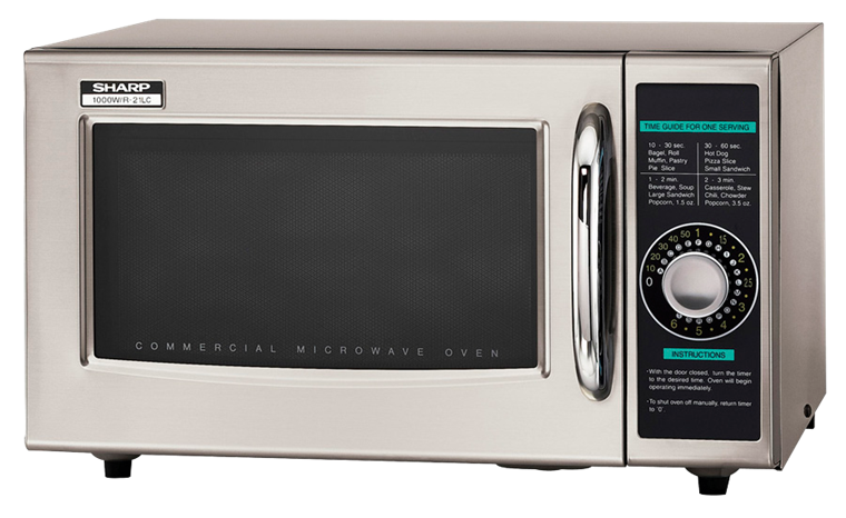 Model: R-21LCF | MEDIUM-DUTY COMMERCIAL MICROWAVE WITH 1000 WATTS
