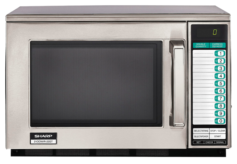 HEAVY-DUTY COMMERCIAL MICROWAVE WITH 1200 WATTS