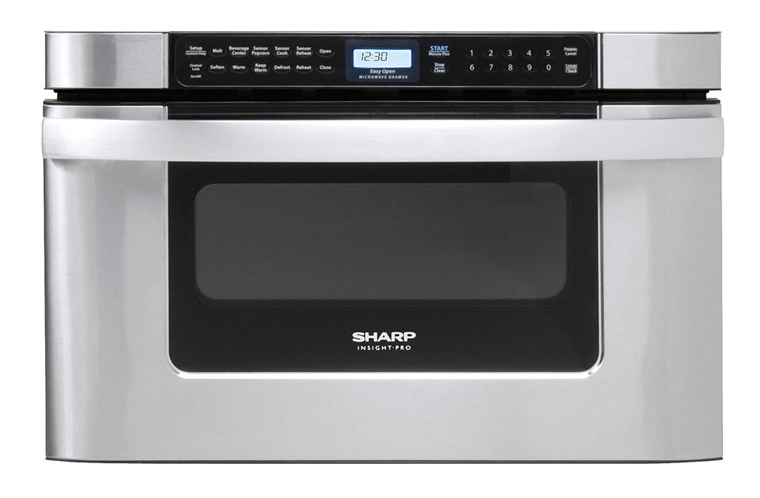 Model: KB-6524PS | Sharp Appliances SHARP MICROWAVE DRAWER OVEN, 24 IN. 1.2 CU. FT. 1000W STAINLESS STEEL