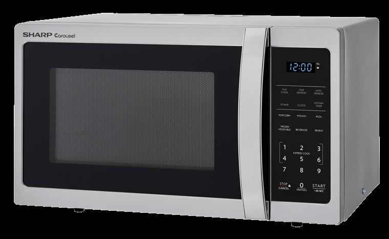 Model: SMC0912BS | Sharp Appliances 0.9 CU. FT.  SHARP  CAROUSEL COUNTERTOP MICROWAVE