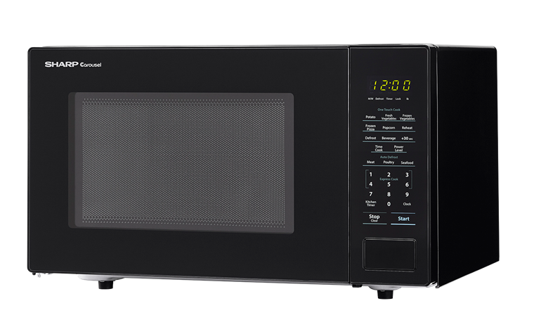 Sharp Appliances SHARP CAROUSEL COUNTERTOP MICROWAVE OVEN 1.1 CU. FT. 1000W BLACK