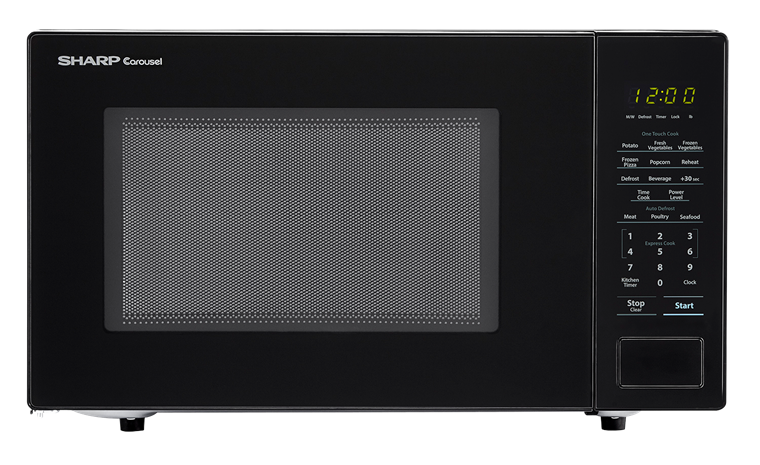 Model: SMC1131CB | Sharp Appliances SHARP CAROUSEL COUNTERTOP MICROWAVE OVEN 1.1 CU. FT. 1000W BLACK
