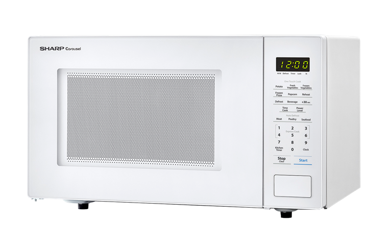 SHARP CAROUSEL COUNTERTOP MICROWAVE OVEN 1.1 CU. FT. 1000W WHITE