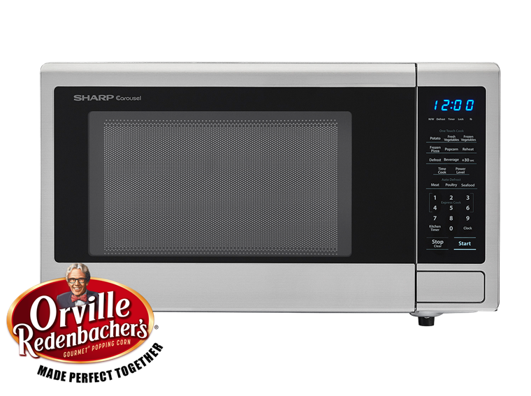 Sharp Appliances 1.1 CU. FT. 1000W SHARP STAINLESS STEEL CAROUSEL COUNTERTOP MICROWAVE OVEN