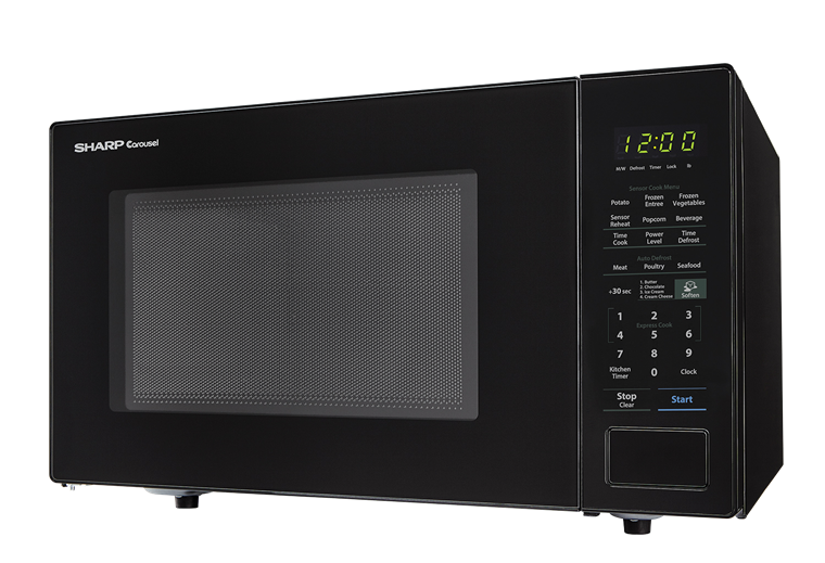 SHARP CAROUSEL COUNTERTOP MICROWAVE OVEN 1.4 CU. FT. 1000W BLACK