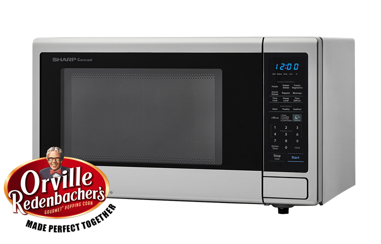 Model: SMC1442CS | 1.4 CU. FT. 1000W SHARP STAINLESS STEEL CAROUSEL COUNTERTOP MICROWAVE OVEN