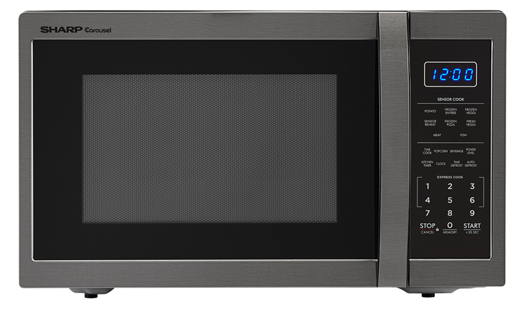 Sharp Appliances SHARP CAROUSEL COUNTERTOP MICROWAVE OVEN 1.4 CU. FT. 1100W BLACK STAINLESS STEEL