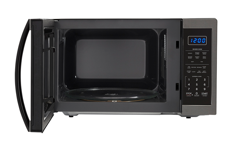Model: SMC1452CH | Sharp Appliances SHARP CAROUSEL COUNTERTOP MICROWAVE OVEN 1.4 CU. FT. 1100W BLACK STAINLESS STEEL