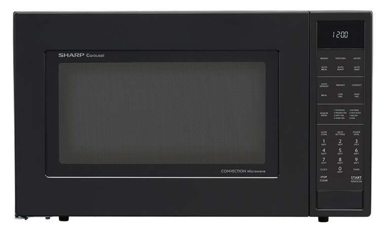 SHARP CAROUSEL COUNTERTOP CONVECTION + MICROWAVE OVEN 1.5 CU. FT. 900W WITH MATTE BLACK FINISH