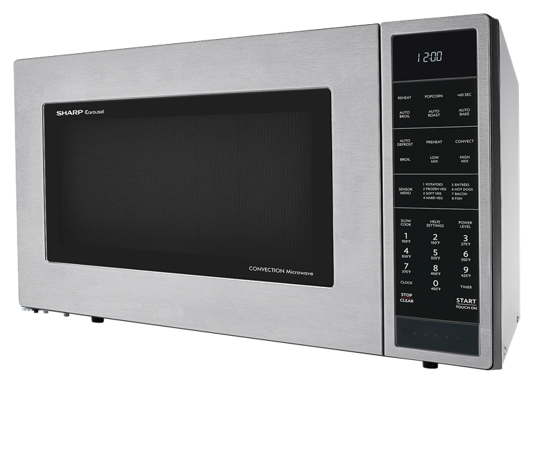 Model: SMC1585BS | Sharp Appliances 1.5 CU. FT. 900W SHARP STAINLESS STEEL CAROUSEL CONVECTION + MICROWAVE