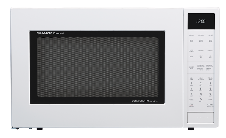 1.5 CU. FT. 900W SHARP WHITE CAROUSEL CONVECTION + MICROWAVE (SMC1585BW) WITH MATTE WHITE FINISH