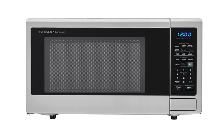 Sharp Appliances SHARP CAROUSEL COUNTERTOP MICROWAVE OVEN 1.8 CU. FT. 1100W STAINLESS STEEL