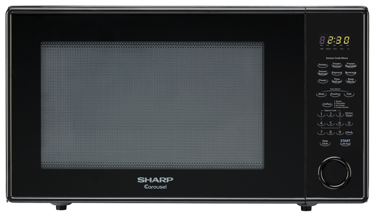 2.2 CU. FT. 1200W SHARP BLACK COUNTERTOP MICROWAVE OVEN