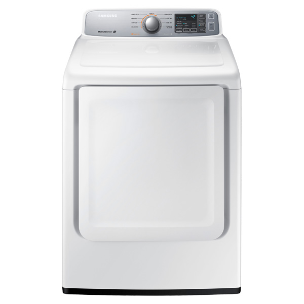 DV7000 7.4 cu. ft. Gas Front Load Dryer (White)