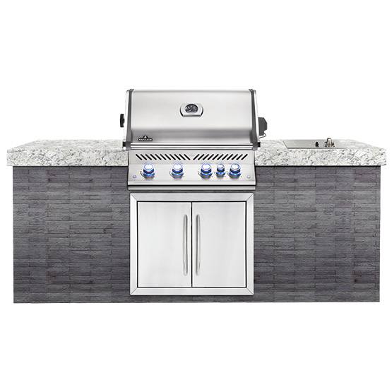Built In Prestige Pro Gas Grill with Rotisserie Burner -
