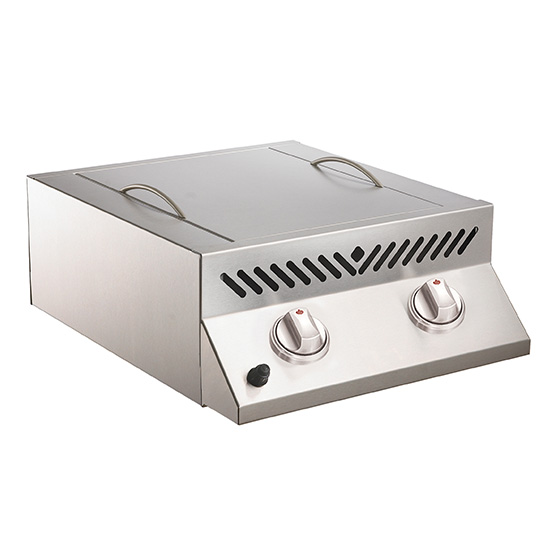 Built-In Flat Top SIZZLE ZONE™ Head  Stainless Steel