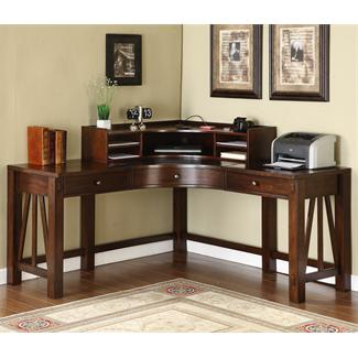Castlewood Curved Corner Desk and Hutch- Curved Corner Desk Hutch