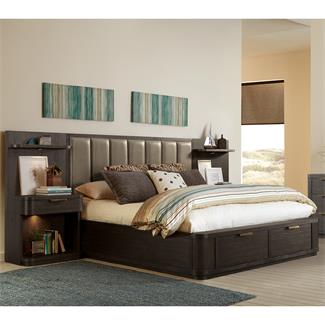 Precision Low Upholstered Storage Bed- King/California King Storage Footboard