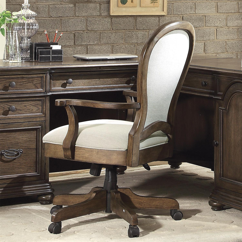 Round Back Upholstered Desk Chair