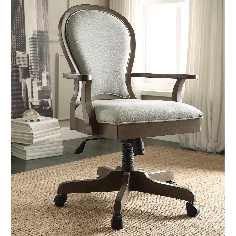 Scroll Back Upholstered Desk Chair
