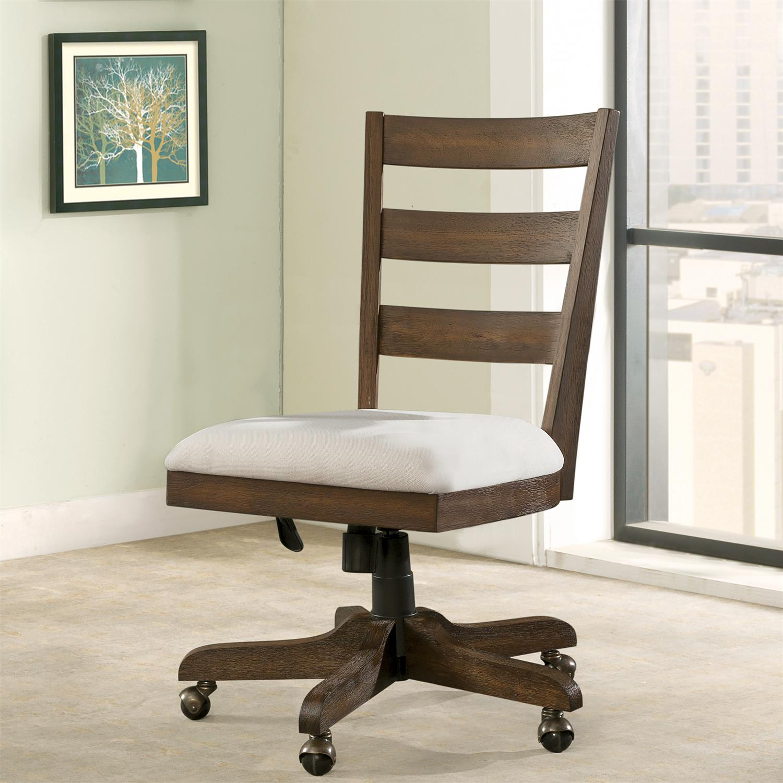 Wood Back Upholstered Desk Chair